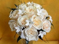 15 Rose Hand-Tied Bouquet With Stefanotis